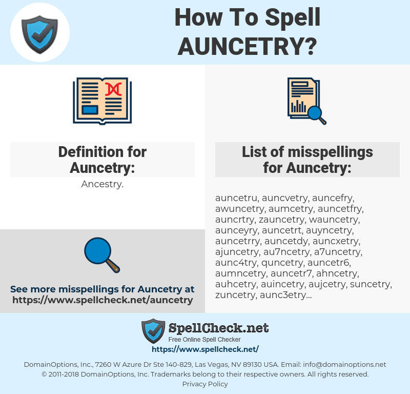 Auncetry, spellcheck Auncetry, how to spell Auncetry, how do you spell Auncetry, correct spelling for Auncetry