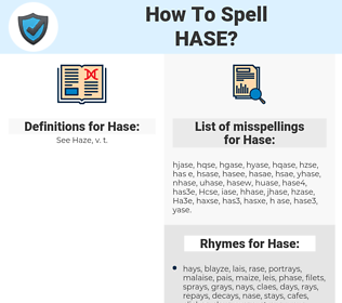 Hase, spellcheck Hase, how to spell Hase, how do you spell Hase, correct spelling for Hase