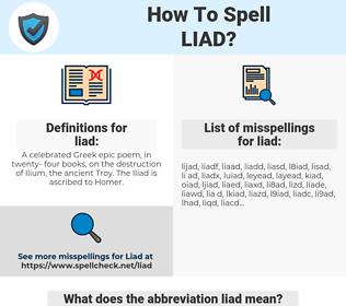 liad, spellcheck liad, how to spell liad, how do you spell liad, correct spelling for liad