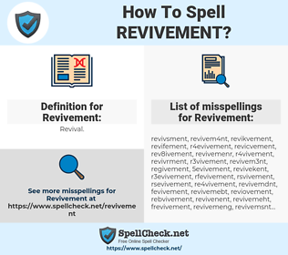 Revivement, spellcheck Revivement, how to spell Revivement, how do you spell Revivement, correct spelling for Revivement
