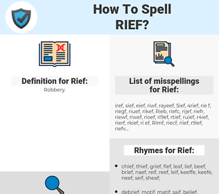 Rief, spellcheck Rief, how to spell Rief, how do you spell Rief, correct spelling for Rief