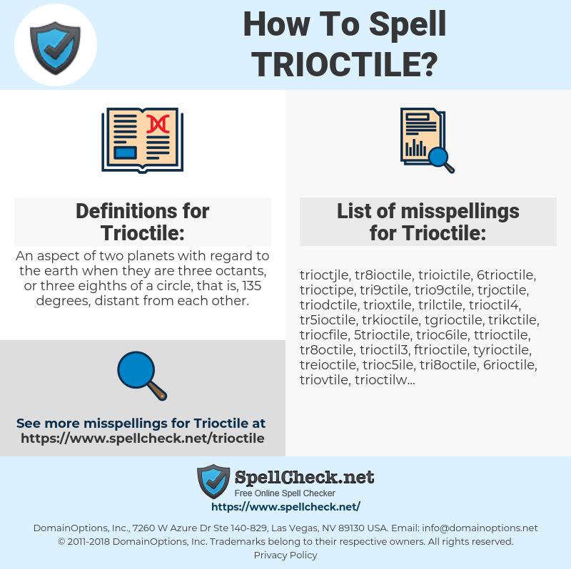 Trioctile, spellcheck Trioctile, how to spell Trioctile, how do you spell Trioctile, correct spelling for Trioctile