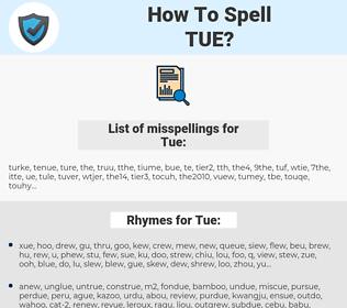 Tue, spellcheck Tue, how to spell Tue, how do you spell Tue, correct spelling for Tue