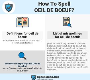 oeil de boeuf, spellcheck oeil de boeuf, how to spell oeil de boeuf, how do you spell oeil de boeuf, correct spelling for oeil de boeuf