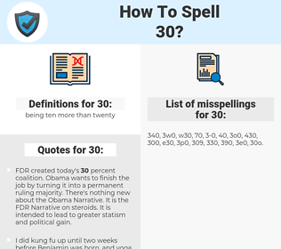 30, spellcheck 30, how to spell 30, how do you spell 30, correct spelling for 30