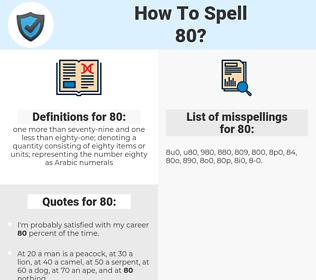 80, spellcheck 80, how to spell 80, how do you spell 80, correct spelling for 80