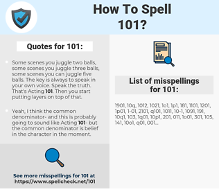101, spellcheck 101, how to spell 101, how do you spell 101, correct spelling for 101