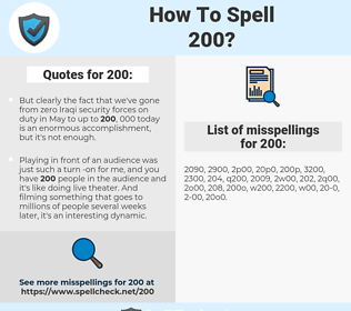 200, spellcheck 200, how to spell 200, how do you spell 200, correct spelling for 200
