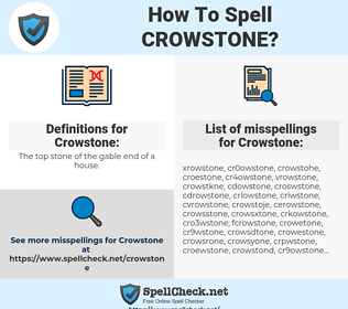 Crowstone, spellcheck Crowstone, how to spell Crowstone, how do you spell Crowstone, correct spelling for Crowstone