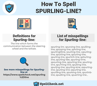 Spurling-line, spellcheck Spurling-line, how to spell Spurling-line, how do you spell Spurling-line, correct spelling for Spurling-line