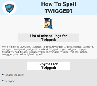 Twigged, spellcheck Twigged, how to spell Twigged, how do you spell Twigged, correct spelling for Twigged