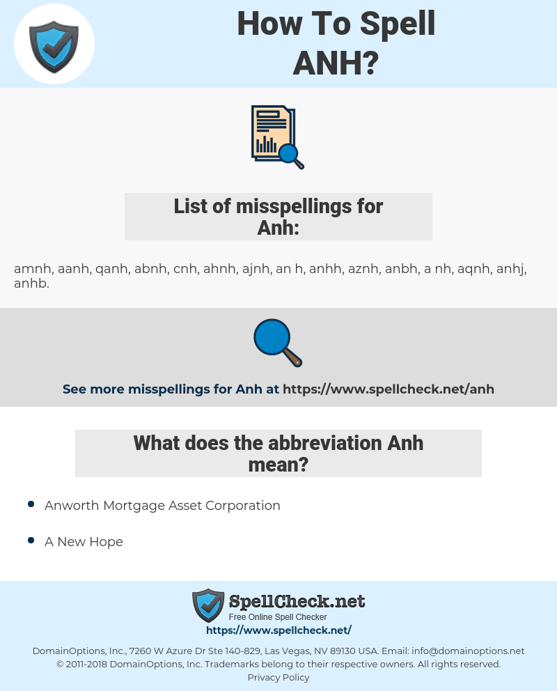 Anh, spellcheck Anh, how to spell Anh, how do you spell Anh, correct spelling for Anh