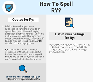 Ry, spellcheck Ry, how to spell Ry, how do you spell Ry, correct spelling for Ry