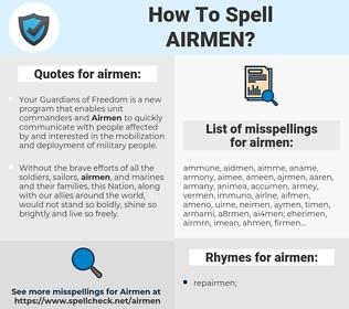 airmen, spellcheck airmen, how to spell airmen, how do you spell airmen, correct spelling for airmen
