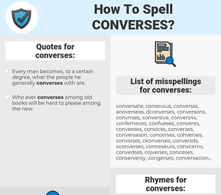 converses, spellcheck converses, how to spell converses, how do you spell converses, correct spelling for converses