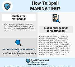 marinating, spellcheck marinating, how to spell marinating, how do you spell marinating, correct spelling for marinating