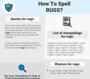rugs, spellcheck rugs, how to spell rugs, how do you spell rugs, correct spelling for rugs