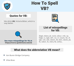 VB, spellcheck VB, how to spell VB, how do you spell VB, correct spelling for VB