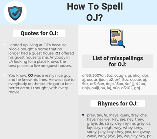 OJ, spellcheck OJ, how to spell OJ, how do you spell OJ, correct spelling for OJ