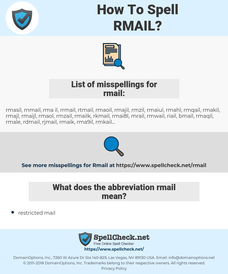 rmail, spellcheck rmail, how to spell rmail, how do you spell rmail, correct spelling for rmail