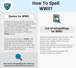 WWII, spellcheck WWII, how to spell WWII, how do you spell WWII, correct spelling for WWII