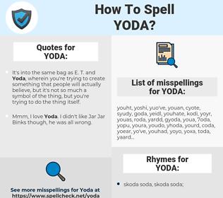YODA, spellcheck YODA, how to spell YODA, how do you spell YODA, correct spelling for YODA