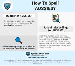 AUSSIES, spellcheck AUSSIES, how to spell AUSSIES, how do you spell AUSSIES, correct spelling for AUSSIES
