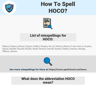 How To Spell Hoco And How To Misspell It Too Spellcheck Net