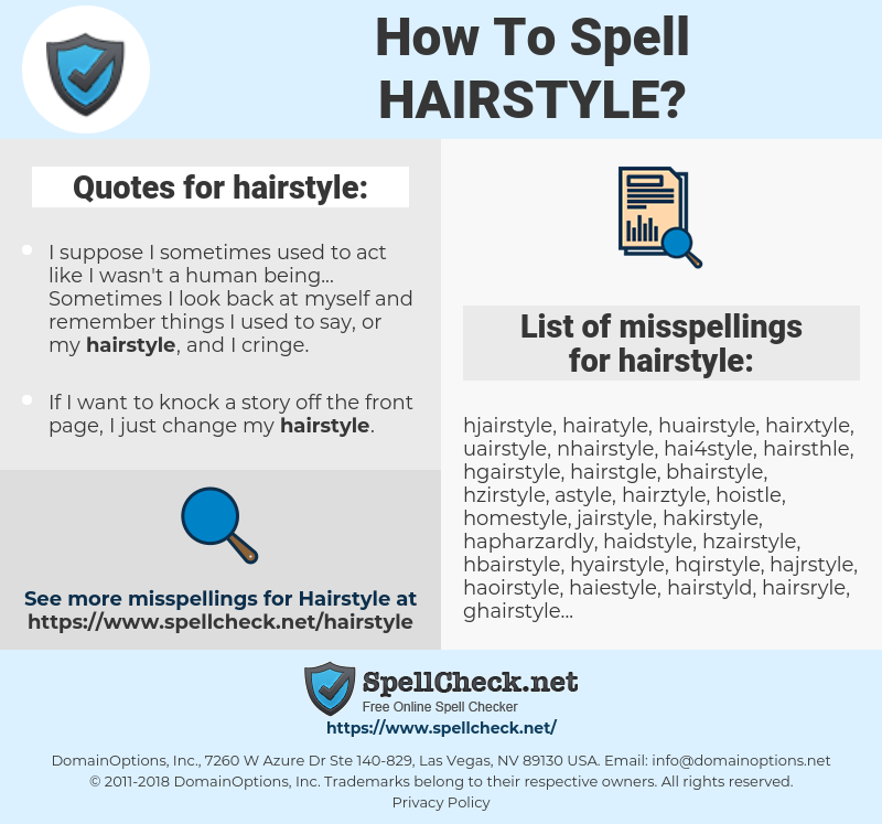 How To Spell Hairstyle Spellcheck
