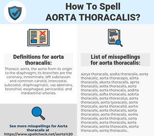 aorta thoracalis, spellcheck aorta thoracalis, how to spell aorta thoracalis, how do you spell aorta thoracalis, correct spelling for aorta thoracalis