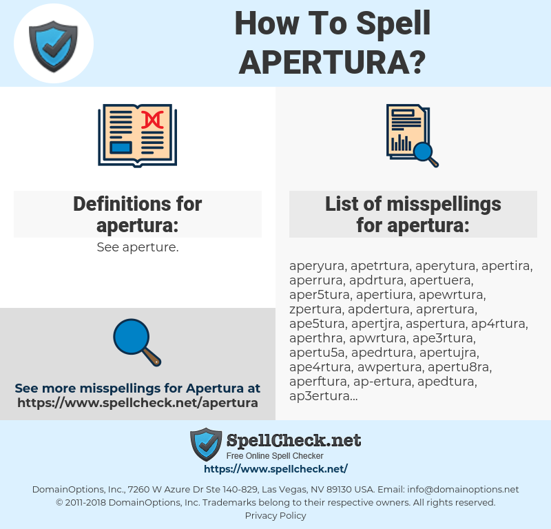 apertura, spellcheck apertura, how to spell apertura, how do you spell apertura, correct spelling for apertura
