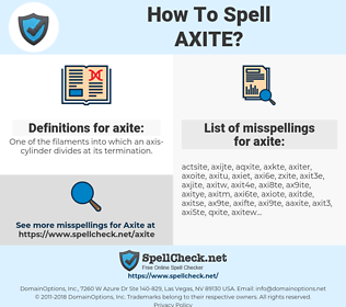 axite, spellcheck axite, how to spell axite, how do you spell axite, correct spelling for axite