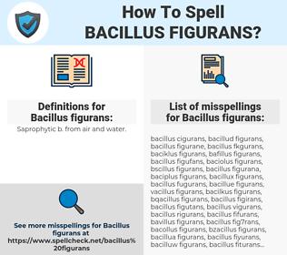 Bacillus figurans, spellcheck Bacillus figurans, how to spell Bacillus figurans, how do you spell Bacillus figurans, correct spelling for Bacillus figurans
