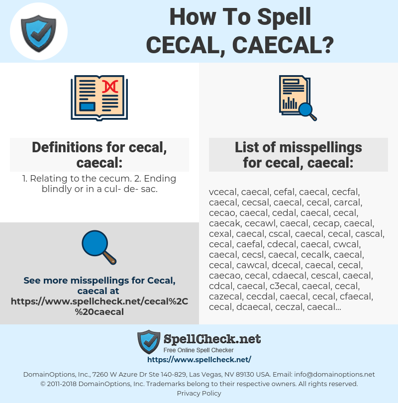 cecal, caecal, spellcheck cecal, caecal, how to spell cecal, caecal, how do you spell cecal, caecal, correct spelling for cecal, caecal