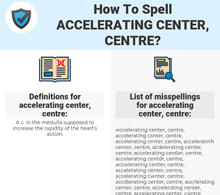 accelerating center, centre, spellcheck accelerating center, centre, how to spell accelerating center, centre, how do you spell accelerating center, centre, correct spelling for accelerating center, centre