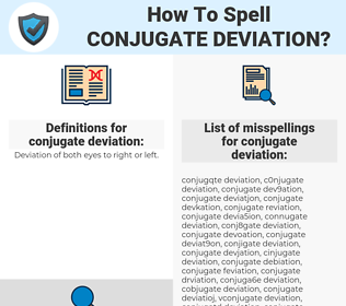 conjugate deviation, spellcheck conjugate deviation, how to spell conjugate deviation, how do you spell conjugate deviation, correct spelling for conjugate deviation