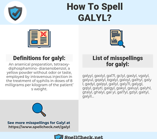 galyl, spellcheck galyl, how to spell galyl, how do you spell galyl, correct spelling for galyl