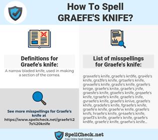 Graefe's knife, spellcheck Graefe's knife, how to spell Graefe's knife, how do you spell Graefe's knife, correct spelling for Graefe's knife