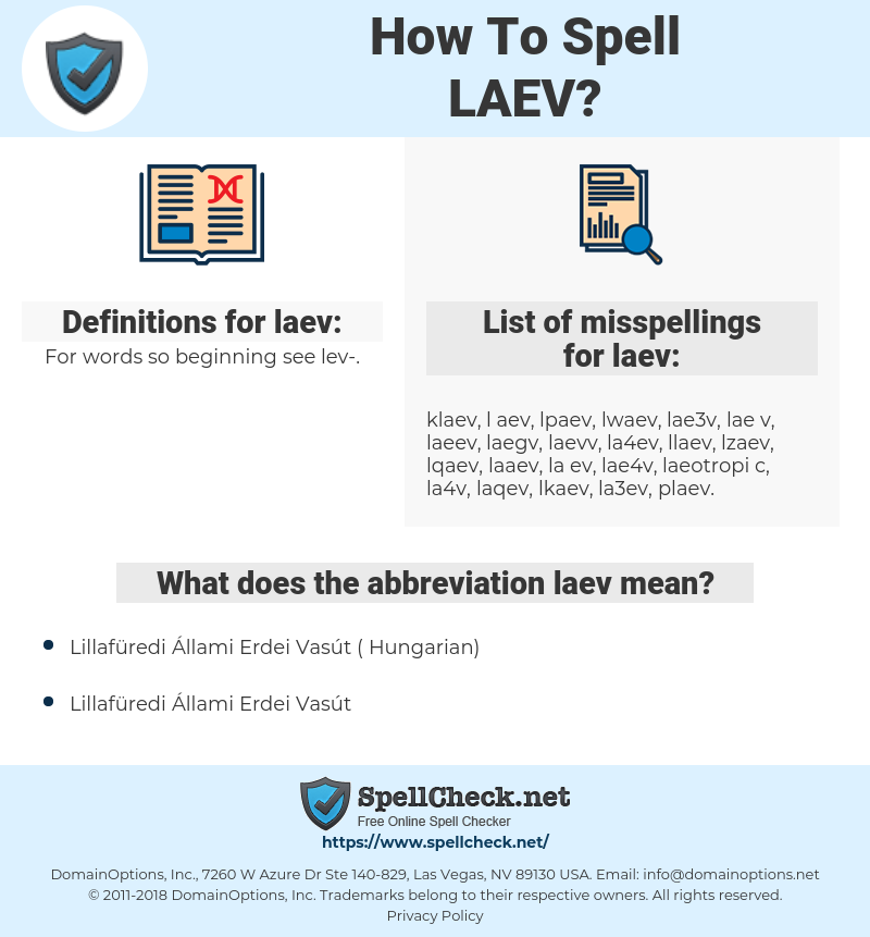 laev, spellcheck laev, how to spell laev, how do you spell laev, correct spelling for laev