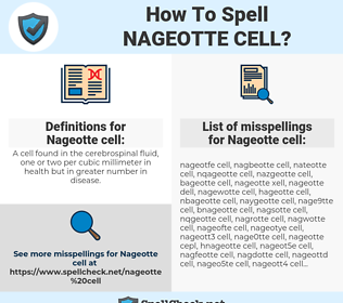 Nageotte cell, spellcheck Nageotte cell, how to spell Nageotte cell, how do you spell Nageotte cell, correct spelling for Nageotte cell