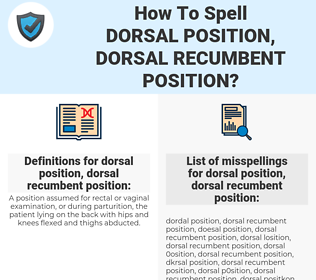 How To Spell Dorsal position, dorsal recumbent position (And