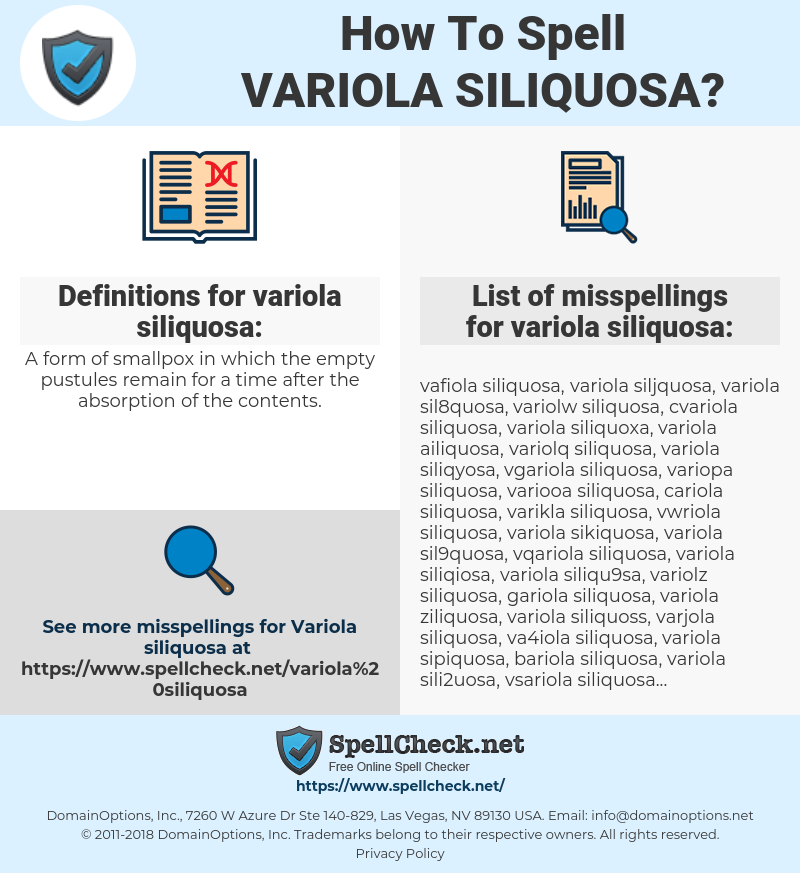 variola siliquosa, spellcheck variola siliquosa, how to spell variola siliquosa, how do you spell variola siliquosa, correct spelling for variola siliquosa