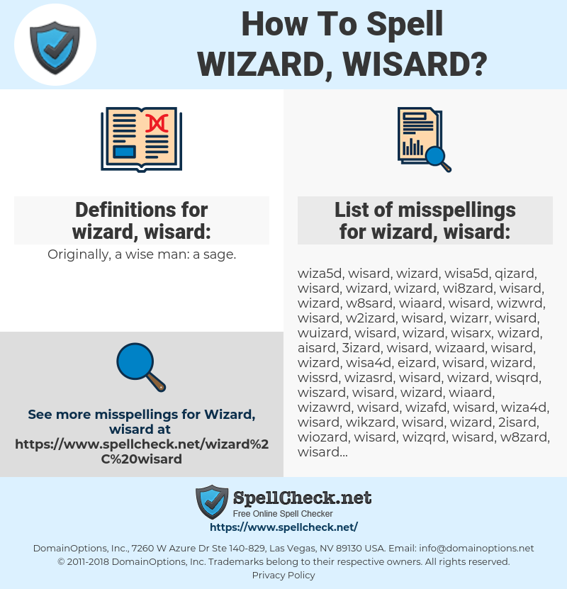 How To Spell Wizard, wisard (And How To Misspell It Too