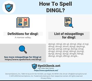 dingl, spellcheck dingl, how to spell dingl, how do you spell dingl, correct spelling for dingl