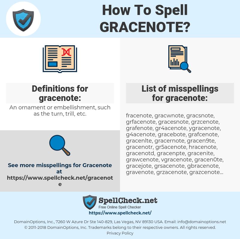 gracenote, spellcheck gracenote, how to spell gracenote, how do you spell gracenote, correct spelling for gracenote