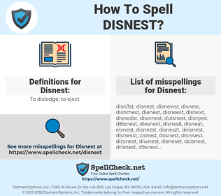 Disnest, spellcheck Disnest, how to spell Disnest, how do you spell Disnest, correct spelling for Disnest