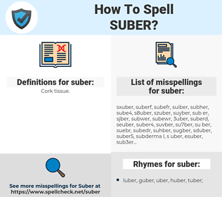 suber, spellcheck suber, how to spell suber, how do you spell suber, correct spelling for suber