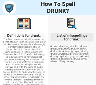 drunk, spellcheck drunk, how to spell drunk, how do you spell drunk, correct spelling for drunk