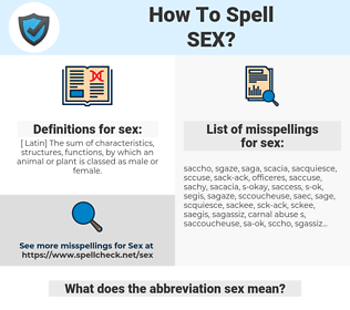 sex, spellcheck sex, how to spell sex, how do you spell sex, correct spelling for sex