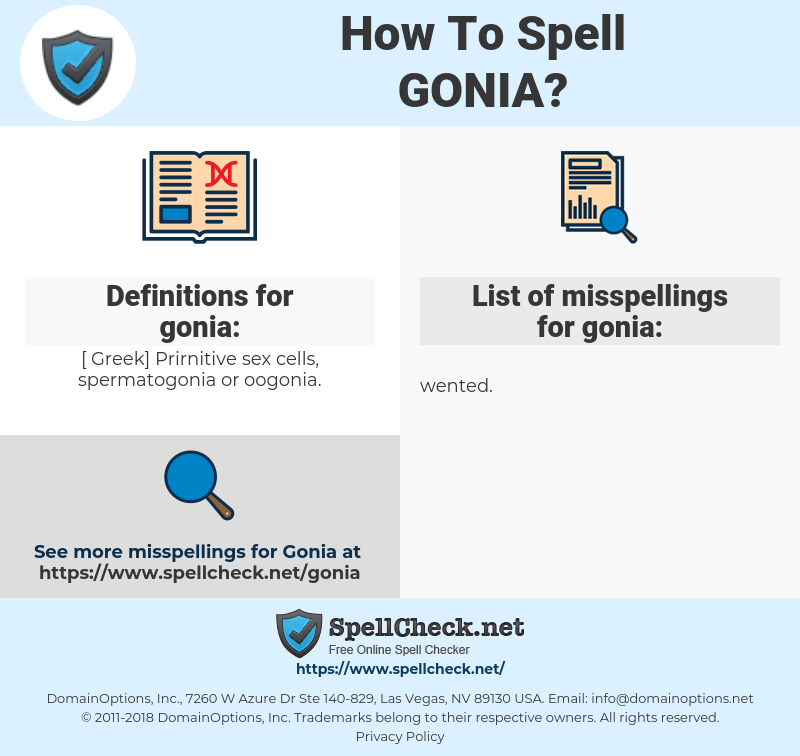 gonia, spellcheck gonia, how to spell gonia, how do you spell gonia, correct spelling for gonia